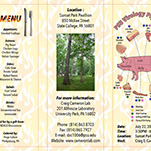Invite to Pig Roast - side 1